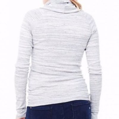 Ingrid & Isabel Marble Long Sleeve Cowl Neck Tee