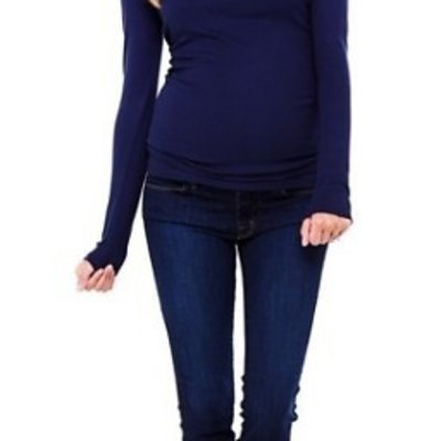 Ingrid & Isabel Long Sleeve Scoop Neck Tee