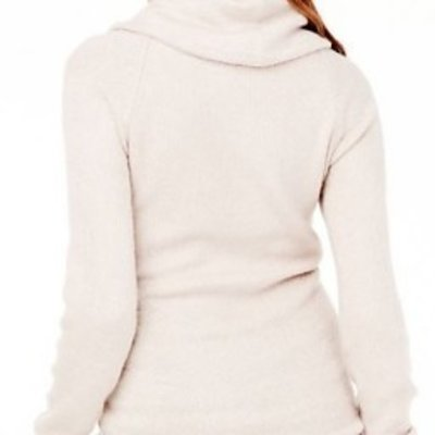 Ingrid & Isabel Cowl Neck Sweater Tunic (Medium Oatmeal Heather)