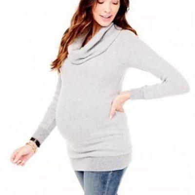 Ingrid & Isabel Cowl Neck Sweater Tunic (Heather Grey)
