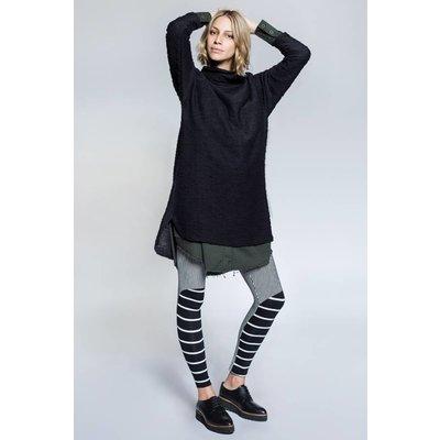 Avishag Arbel Maternty Black AND White STRIPED LEGGINGS