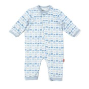 Magnificent Baby Dancing Elephants Modal Magnetic Coverall