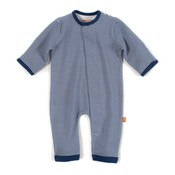 Magnificent Baby Blueprint Stripe Magnetic Coverall