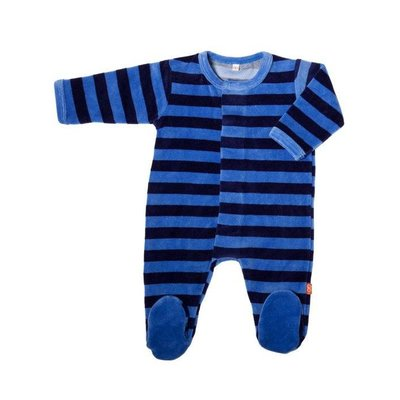 Magnificent Baby Midnight/Sky Velour Magnetic Footie