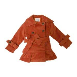 Dino Bebe Ruffle Trench Coat