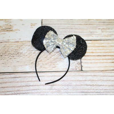 Lincoln&Lexi Sequin Minnie Mouse Ears Headband