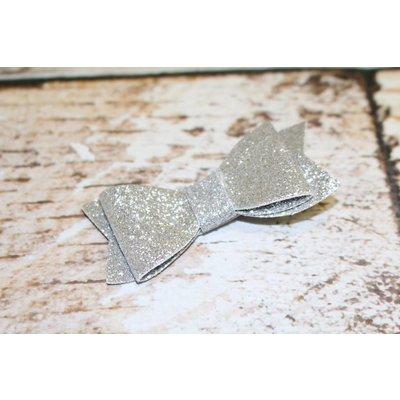 """Lincoln&Lexi 3"""" Solid Glitter Bow Clip"""