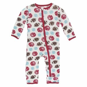 Kickee Pants Copy of Print Coverall with Zipper