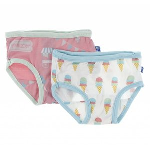 Kickee Pants Girl Underwear Set (Strawberry Carnival & Natural Ice Cream)