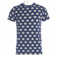 Kickee Pants Men's Print Basic Short Sleeve Tee (Vintage Stars)