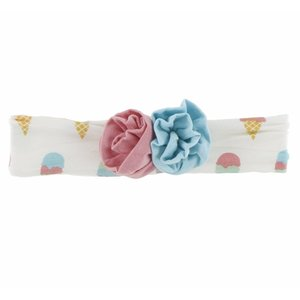 Kickee Pants Print Flower Headband (Natural Ice Cream - One Size)