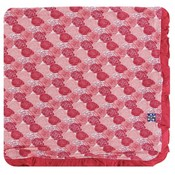 Kickee Pants Print Ruffle Toddler Blanket (Roses - One Size)