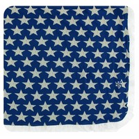 Kickee Pants Print Ruffle Toddler Blanket (Vintage Stars - One Size)