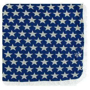 Kickee Pants Print Ruffle Toddler Blanket (Vintage Stars - One Size)