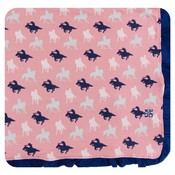 Kickee Pants Print Ruffle Toddler Blanket (Strawberry Cowgirl - One Size)