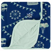 Kickee Pants Print Stroller Blanket (Flag Blue Carnival - One Size)
