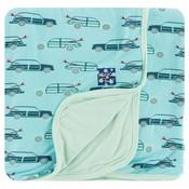 Kickee Pants Print Stroller Blanket (Shining Sea Woody - One Size)