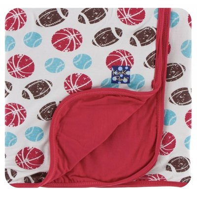 Kickee Pants Print Stroller Blanket (Natural Sports - One Size)