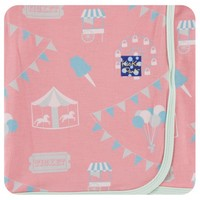 Kickee Pants Print Swaddling Blanket  (Strawberry Carnival - One Size)
