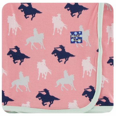 Kickee Pants Print Swaddling Blanket  (Strawberry Cowgirl - One Size)