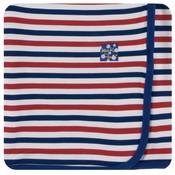 Kickee Pants Print Swaddling Blanket  (USA Stripe - One Size)
