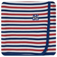 Kickee Pants Print Swaddling Blanket  (USA Stripe - One Size)