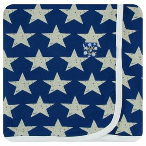 Kickee Pants Print Swaddling Blanket  (Vintage Stars - One Size)