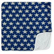 Kickee Pants Print Toddler Blanket (Vintage Stars - One Size)