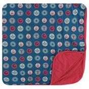 Kickee Pants Print Toddler Blanket (Soda Pop Caps - One Size)