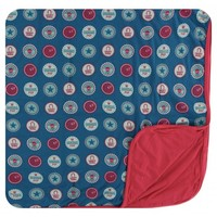 Kickee Pants Print Toddler Blanket (Soda Pop Caps - One Size)