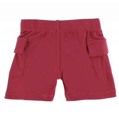 Kickee Pants Solid Cargo Short (Flag Red)