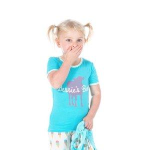 Kickee Pants Print Short Sleeve Pajama Set (Natural Ice Cream)
