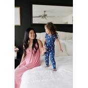 Kickee Pants Print Short Sleeve Pajama Set (Pink Lemonade)
