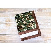 """Lincoln&Lexi The Camo with Ivory Minky Dot 30""""x36"""""""
