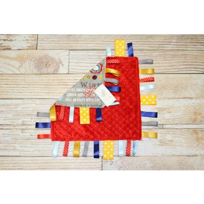 """Lincoln&Lexi Owl You Need is Love-Boy 16""""x16"""" Ribbon"""