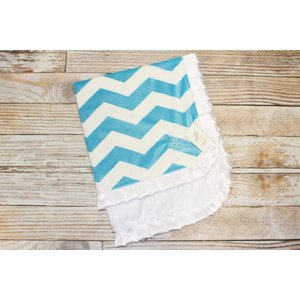 "Lincoln&Lexi Chevron Fun-Teal 30""x36"""