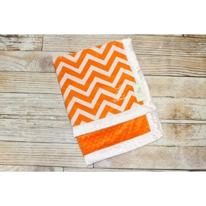 "Lincoln&Lexi Chevron Fun-Orange 30""x36"" Straight Satin"