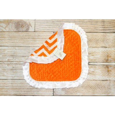 "Lincoln&Lexi Chevron Fun-Orange 16""x16"" Ruffle Satin"