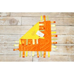 "Lincoln&Lexi The Orange Minky Dot-Yellow 16""x16"" Ribbon"