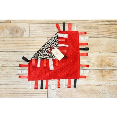 "Lincoln&Lexi The Fancy Girl-Red Minky Dot 16""x16"" Ribbon"