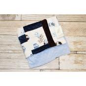 "Lincoln&Lexi Multi Fabric Owl 20""x24"" Blanket"
