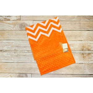 "Lincoln&Lexi Chevron Fun-Orange 30""x36"" No Satin"