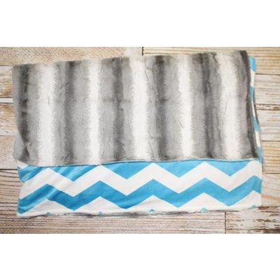 Lincoln&Lexi Angora & Chevron 5'x6' Mommy Blanket