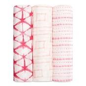 aden+anais berry shibori 3-pack silky soft swaddles