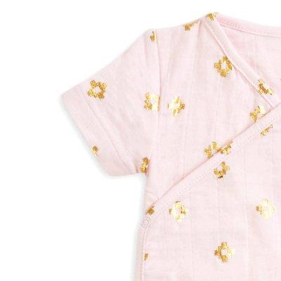 aden+anais metallic primrose aztec short sleeve kimono one-piece