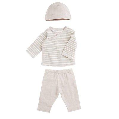 aden+anais toast stripe newborn set
