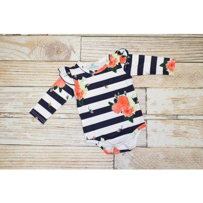 "Lincoln&Lexi The Kate"" Flutter Sleeve Onesie"
