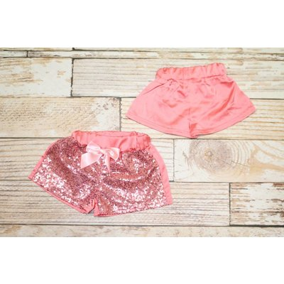 Lincoln&Lexi Pink Sparkle Glitter Shorts