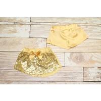Lincoln&Lexi Gold Sparkle Glitter Shorts