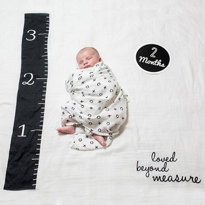 lulujo Baby's First Year blanket/cards -Loved Beyond Measure